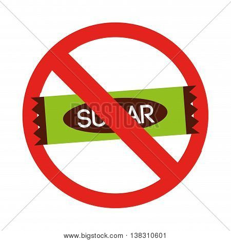 sugar free isolated icon design, vector illustration  graphic