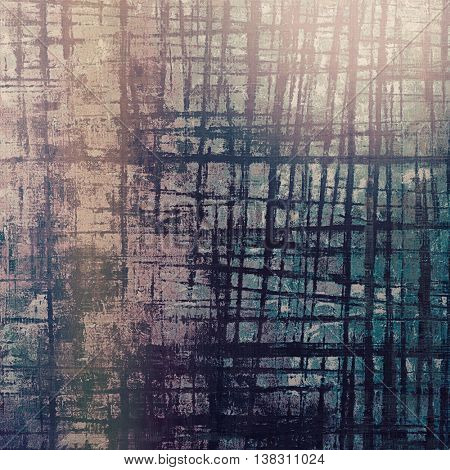 Grunge abstract textured background, aged backdrop with different color patterns: brown; gray; blue; cyan; purple (violet)