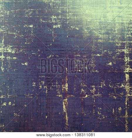 Oldest vintage background in grunge style. Ancient texture with different color patterns: yellow (beige); brown; green; blue; cyan; purple (violet)