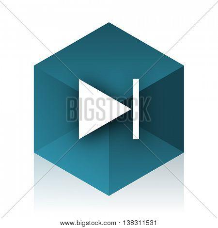 next blue cube icon, modern design web element
