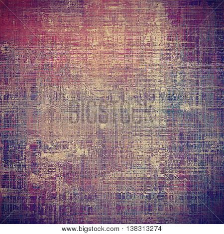Distressed grunge texture, damaged vintage background with different color patterns: yellow (beige); brown; gray; blue; purple (violet); pink