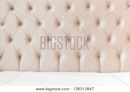 Bedroom Interior Background, Soft Headboard