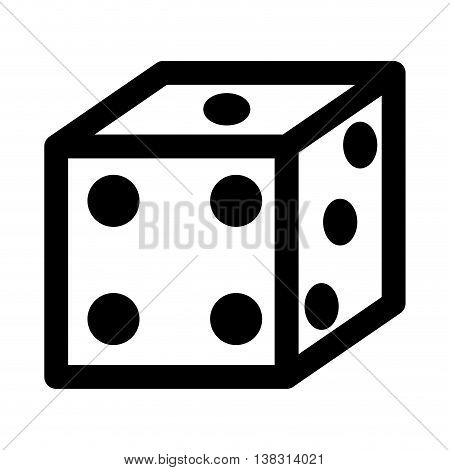 dice game isolated icon design, vector illustration  graphic