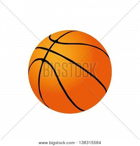 ball icon isolated basket ball nobody fun activity sport