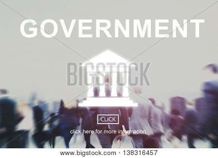 Government Administration Pillar Graphic Concept