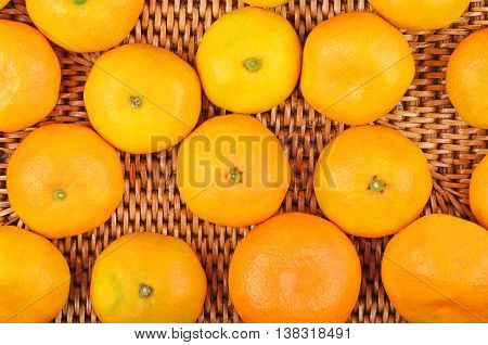 Mandarin On Wickered Background