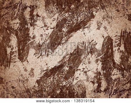 art grunge brown ragged abstract pattern illustration background