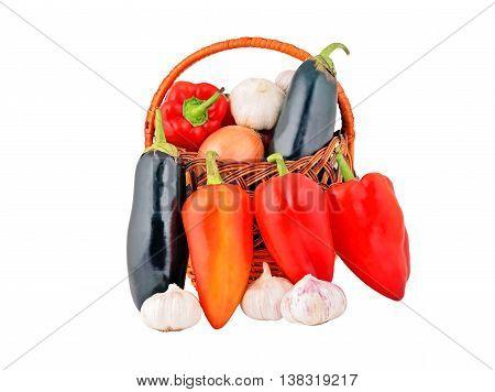 Vegetables In A Wattled Basket