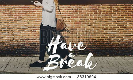 Break Relax Relief Resting Recess Concept