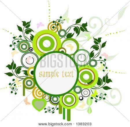Blumen Hintergrund - Vektor-Illustration