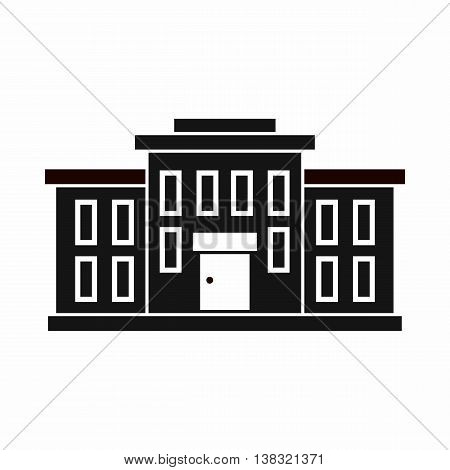 School building icon in simple style isolated vector illustration