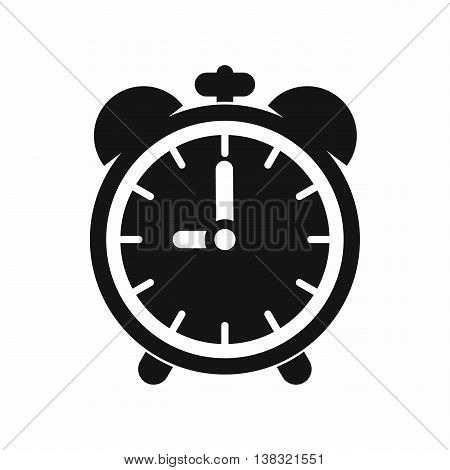Alarm clock icon in simple style isolated vector illustration