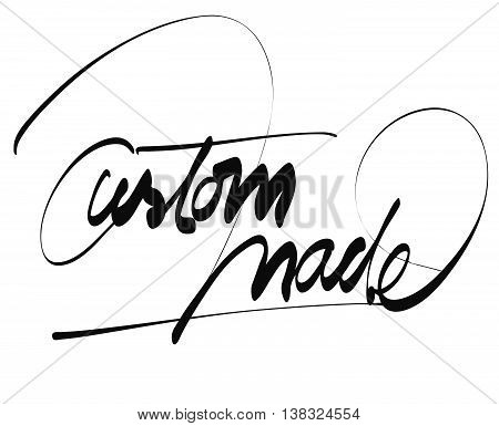 Custom Made Title - Hand Lettering