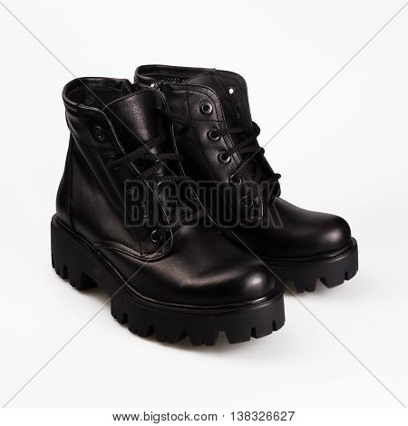 Black Boots With Laces