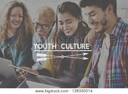 Youth Culture Generation Lifestyle Young Teens Concept