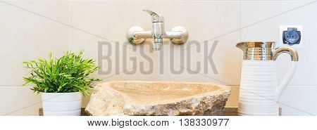 Creative Stone Sink Design