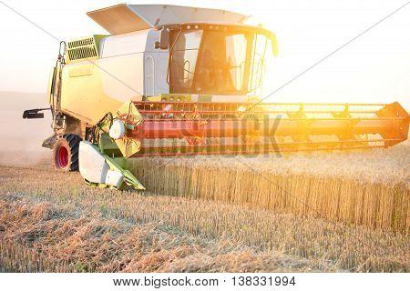 Combine Harvester Working