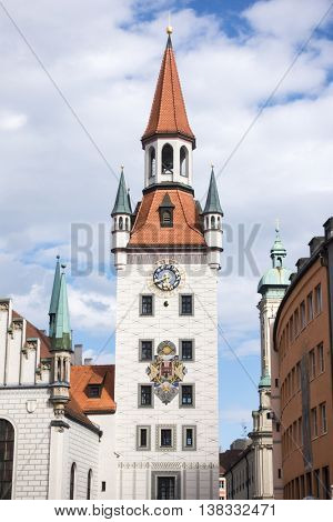 An image of the old town hall of Munich Bavaria Germany