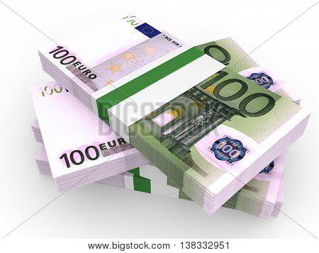 Stack Of Euro Banknotes.