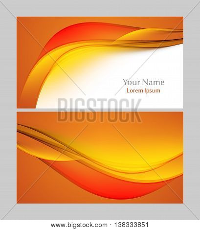 Vector bright business card template. Elements for design. Eps10 vector illustration
