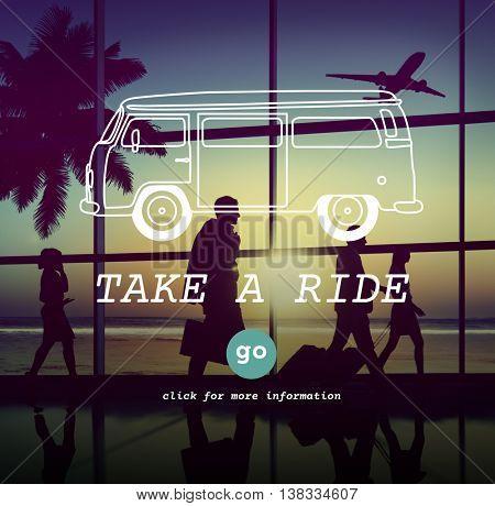 Take Ride Commuter Journey Metropolitain Motion Concept