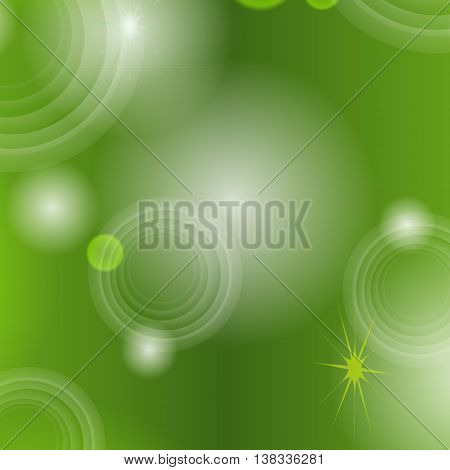 Abstract seamless green background with circles, stars, rings a joyful festive spectacular vector