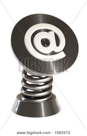 3D Spring E-Mail Symbol