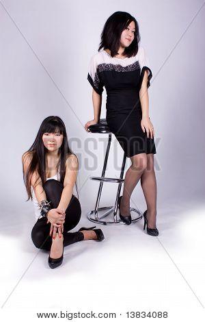 Two beautiful Asian girl