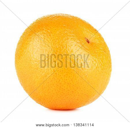 fresh orange mandarine, isolated on white background