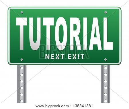 tutorial learn online video lesson or class, website education internet learning, 3D illustration, isolated, on white