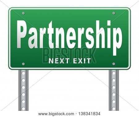 Partnership partners in crime or business partner cooperate pact 3D illustration, isolated, on white