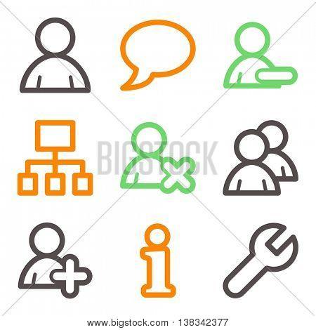 Social media mobile icons, infographics symbols.