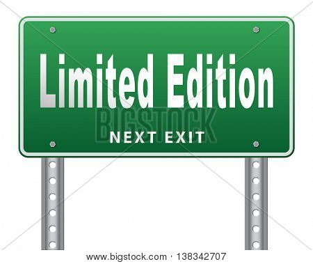 limited edition exclusive product and collecters item 3D illustration, isolated, on white