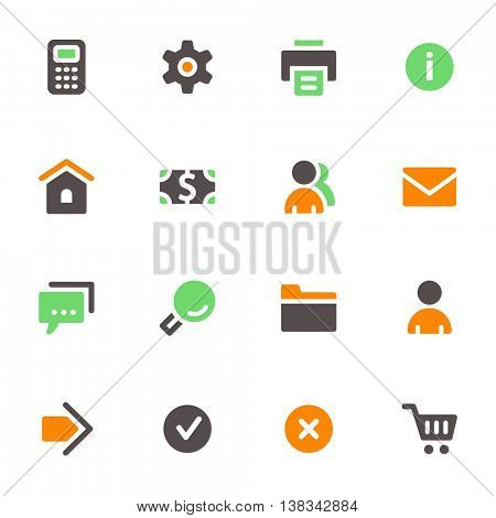 Basic vector mobile icons. Web infographics symbols.