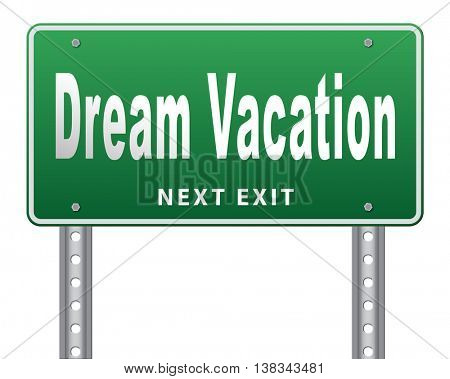 dream vacation travelling towards holiday destination summer winter or spring vacations to exotic paradise places travel the world and enjoy life 3D illustration, isolated, on white