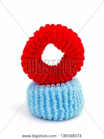 scrunchy isolated elastic fashion on white background