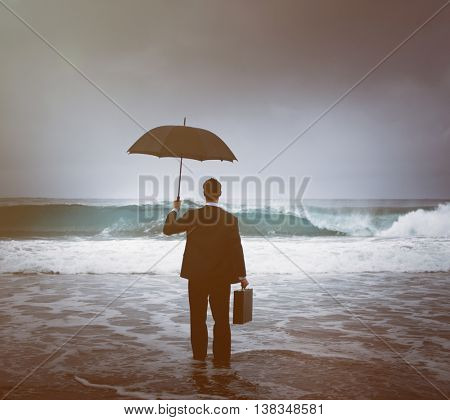 Business Despair Coastline Beach Concept