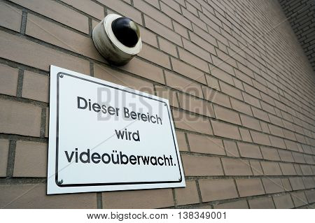 Video surveillance at the entrance of a hospital