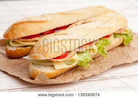 Panini grilled sandwich