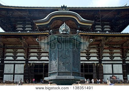 Entrance to the Todaiji buddhist Temple in Nara Japan