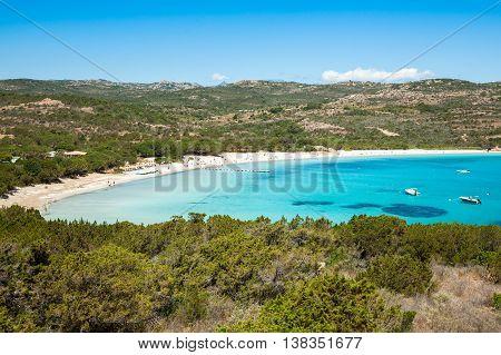 Rondinara Beach In Corsica Island In France