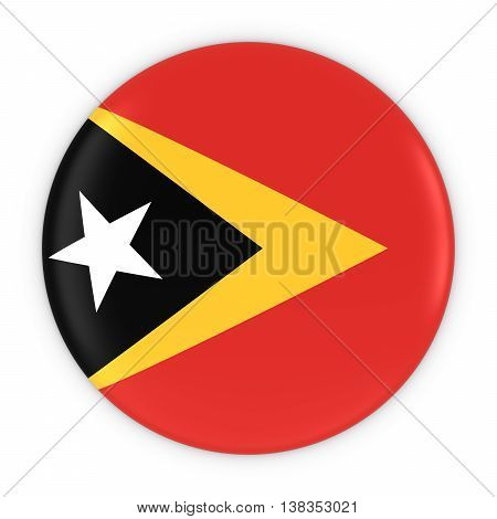 Timorese Flag Button - Flag Of East Timor Badge 3D Illustration