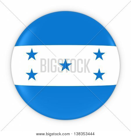 Honduran Flag Button - Flag Of Honduras Badge 3D Illustration