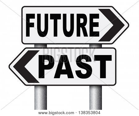 past future prediction and forecast near future fortune telling and forecast evolution and progress and innovations 3D illustration, isolated, on white