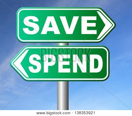 save for later plan ahead saving money in piggy bank savings now and spend later after crisis 3D illustration, isolated, on white