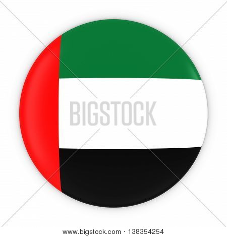 Emirati Flag Button - Flag Of United Arab Emirates Badge 3D Illustration