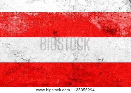Flag Of Brno, Czechia, With A Vintage And Old Look