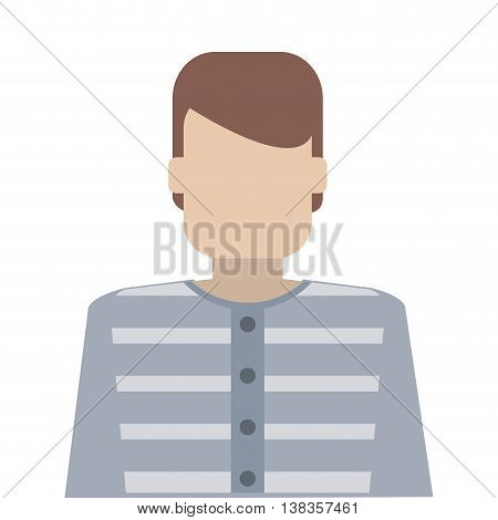 flat design jail inmate icon vector illustration