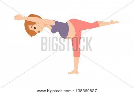 Pregnant woman character vector sport