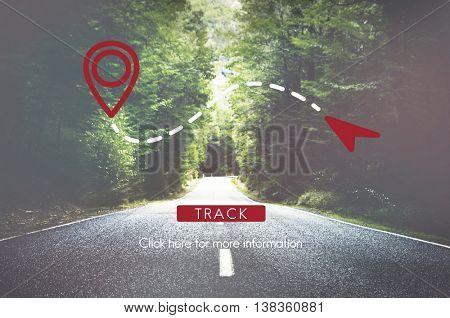 Route GPS Location Direction Position Transport Concept